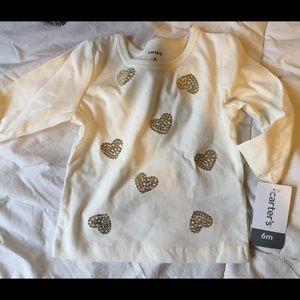 Carter's Shirts & Tops - Carters sequin heart shirt